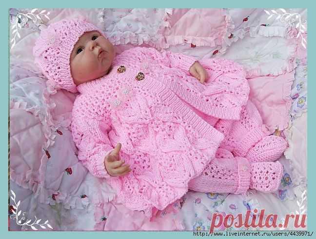 """Жакет """"Цветочная фантазия"""" для новорожденной девочки."""
