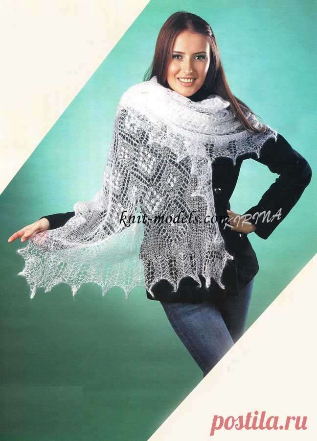 Openwork palatine from a thin mohair