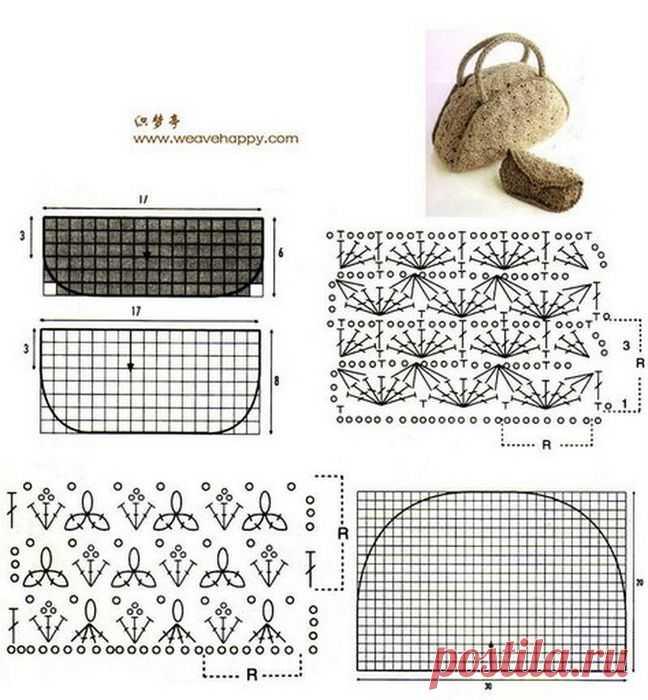 летние вязаные сумки крючком со схемами картинки задания будут