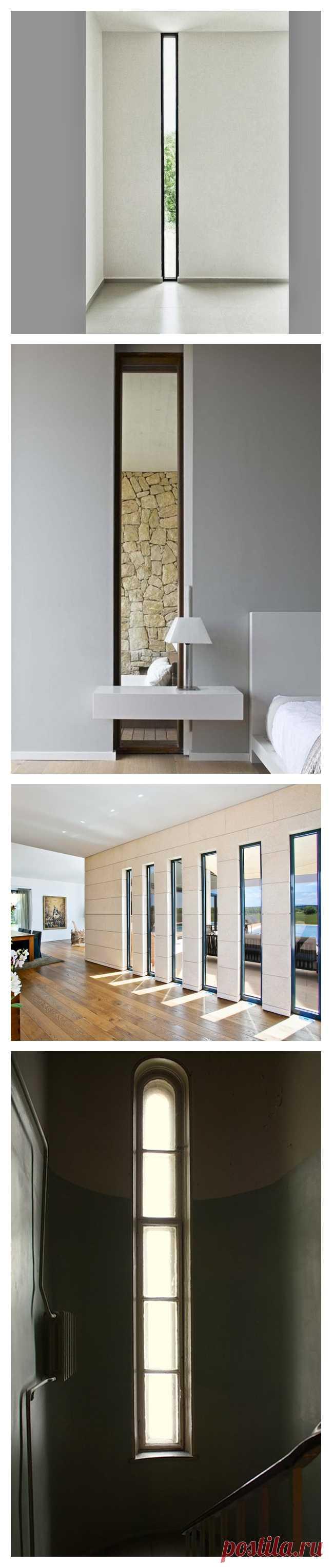 Узкие окна. Головная боль строителей или эффектная деталь интерьера?