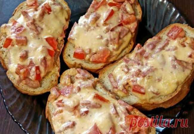 Бутерброды получаются как пицца: готовим за 10 минут - Steak Lovers - медиаплатформа МирТесен