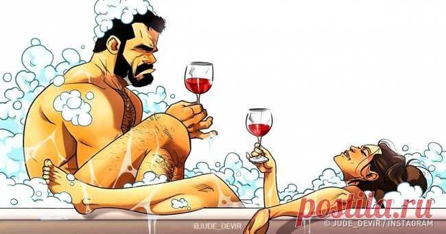 Израильский художник покорил сердца миллионов искренними комиксами ожизни сосвоей женой . Чёрт побери