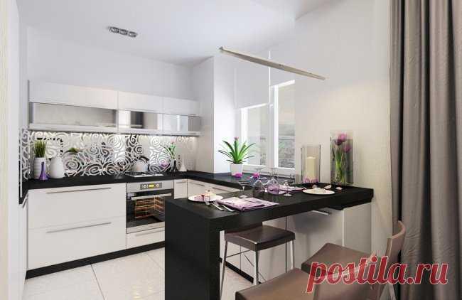 дизайн проект белой п образной кухни студии 6 фото идеи вашего
