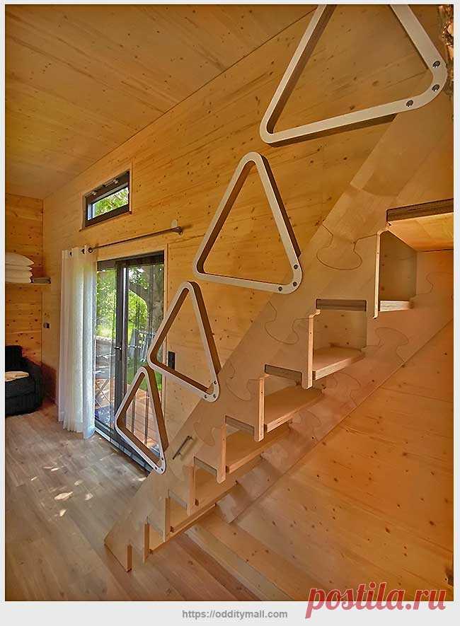Лестница-невидимка для маленького помещения   Идеи домашнего мастера