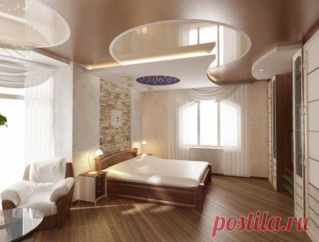 Натяжные потолки - идеи для дизайна интерьера.