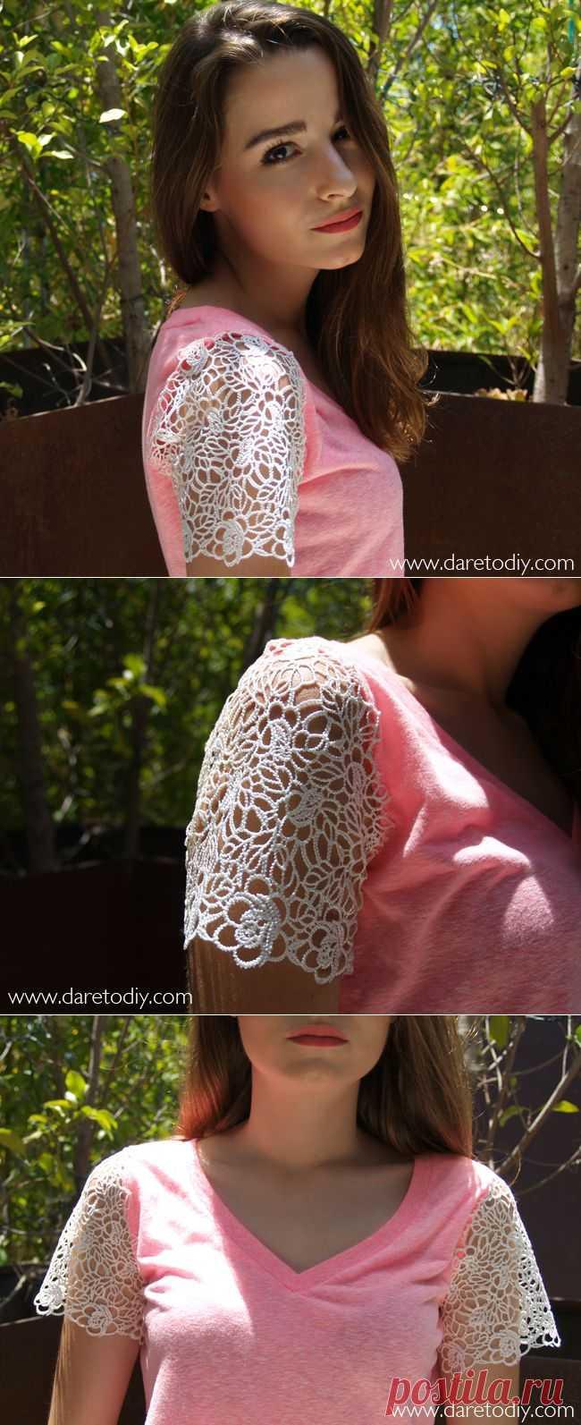 Кружевные рукавчики (Diy) / Кружево / Модный сайт о стильной переделке одежды и интерьера