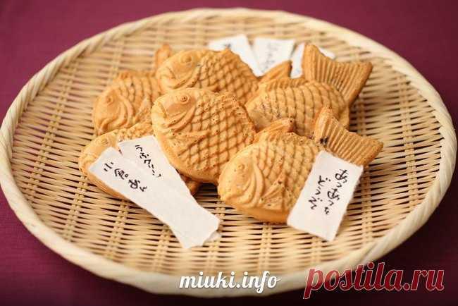 Таяки / пирожок в форме рыбки (рецепт и видео) — MIUKI MIKADO • Виртуальная Япония