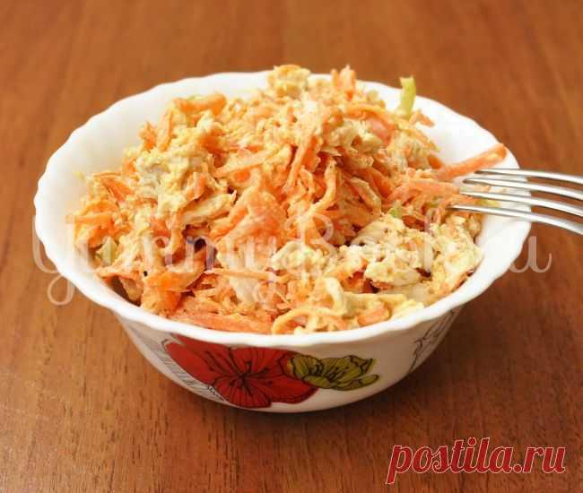 (+1) сообщ - Куриный салат с корейской морковью | Любимые рецепты