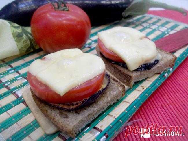 Брускетта с баклажаном и помидорами: пошаговые фото, видео