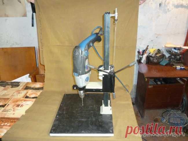 Самодельная стойка для дрели из фотоувеличителя