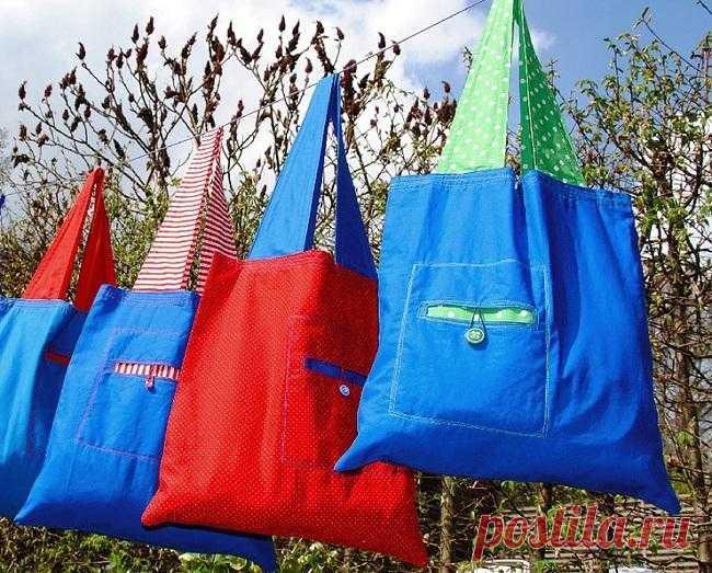 dcdc46bb0a71 Хозяйственная сумка своими руками. Выкройка и мастер-класс | сумки ...