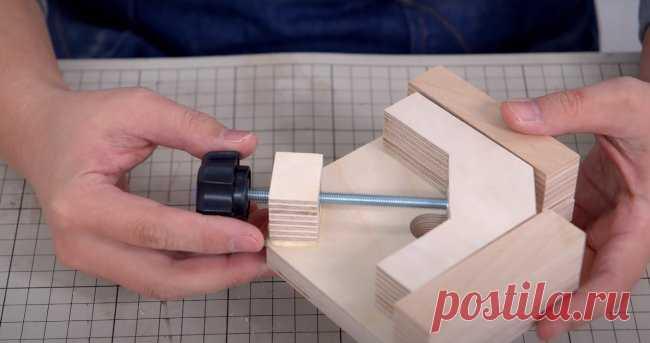 Угловая струбцина для склеивания деревянных деталей