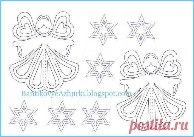 BantikovyeAzhurki.blogspot.com: Новогодние ангелочки из бумаги.
