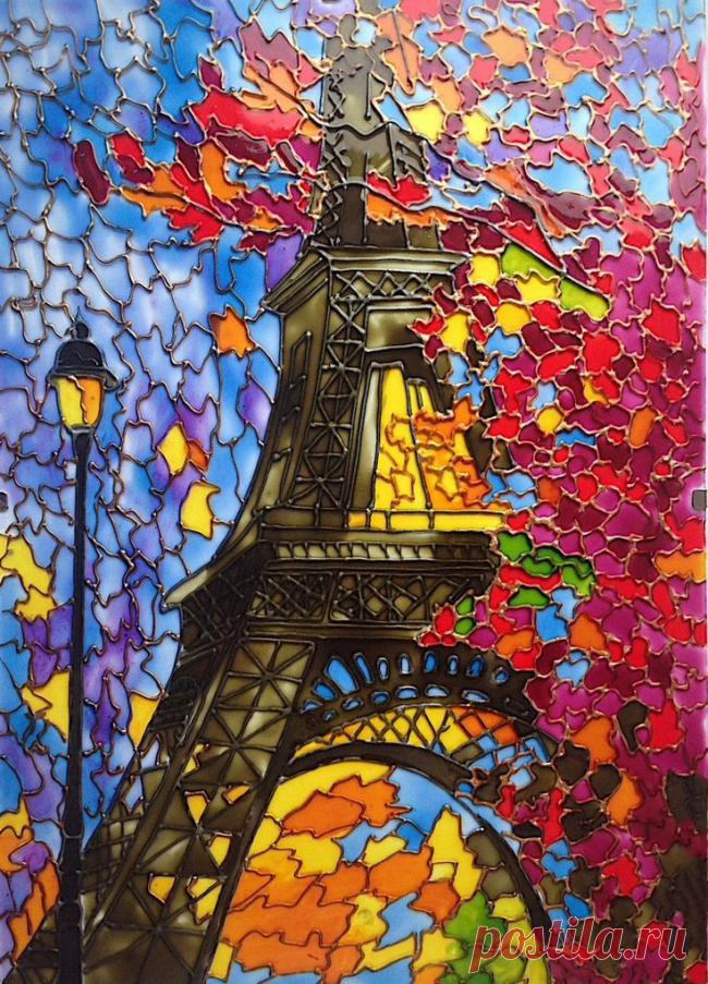 Роспись по стеклу витражными красками: мастер-класс по технике - Домоводство - медиаплатформа МирТесен