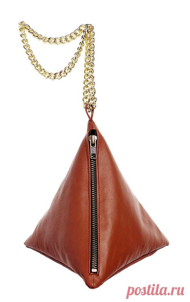 a0269ca61298 Как сшить кожаную сумочку-пирамидку | сумки из кожи DIY | Постила