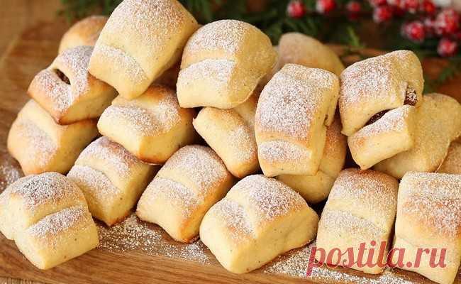 «Творожные облака». Воздушное печенье из творога к чаю. Простой рецепт, вкусно и дешево!