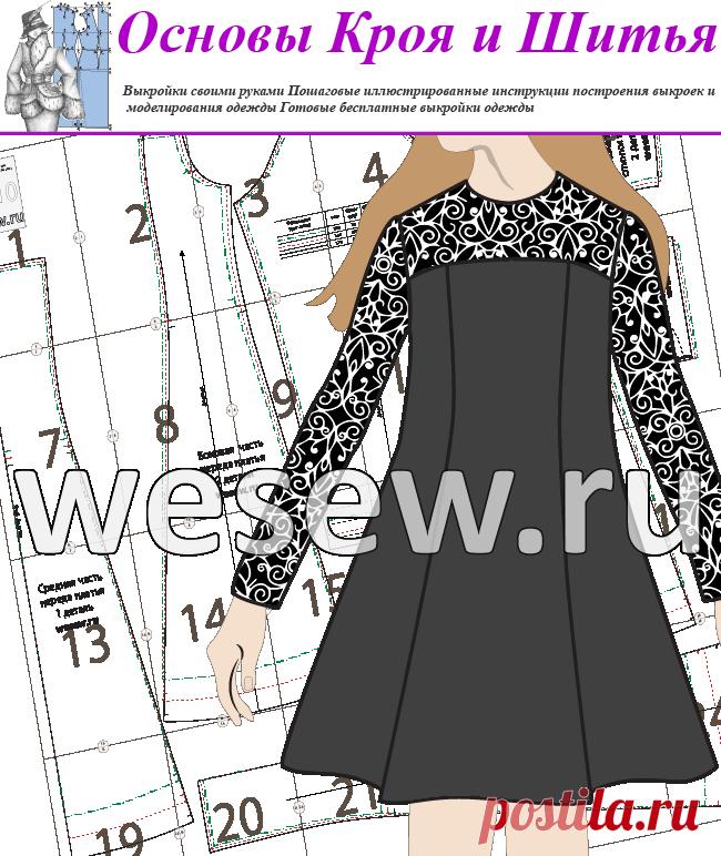 Выкройка платья для девочек подросткового возраста в трех размерах