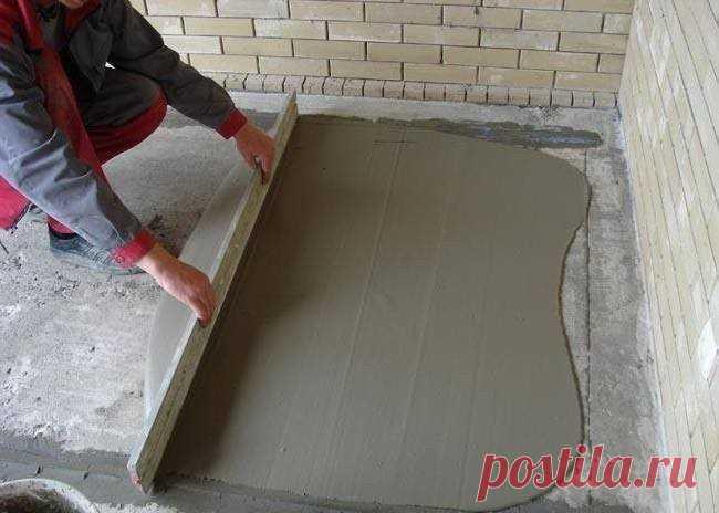 Как правильно сделать бетонную стяжку по маякам   Журнал