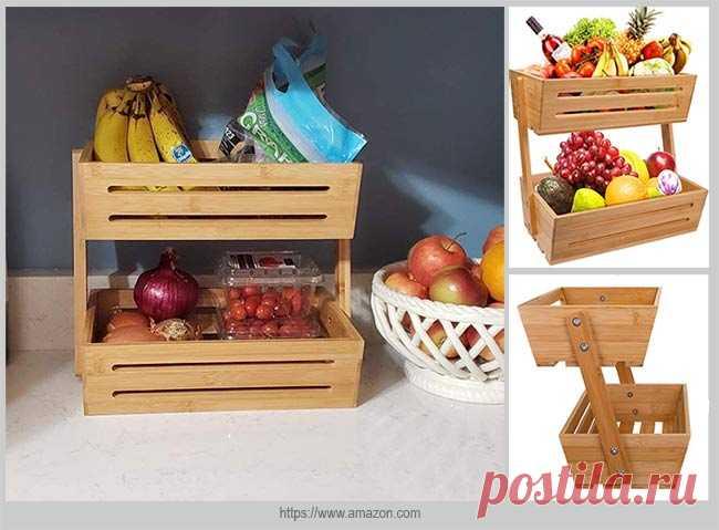Организуем хранение овощей и фруктов на кухне   Идеи домашнего мастера