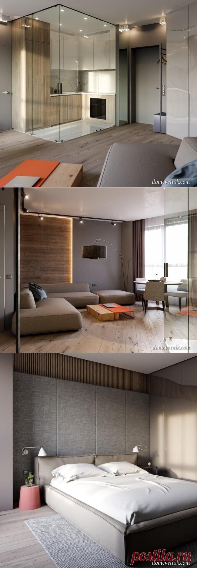 Кухня «за стеклом». Дизайн апартаментов от Константина Килдинова — Дом-Цветник