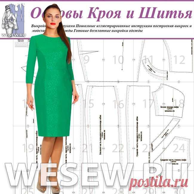 1cc9913f9d9e Готовая выкройка платья для полных в трех размерах. Платье отрезное ...