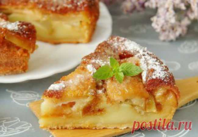 Тесто само превращается в крем: пирог с яблоками и грушами - медиаплатформа МирТесен