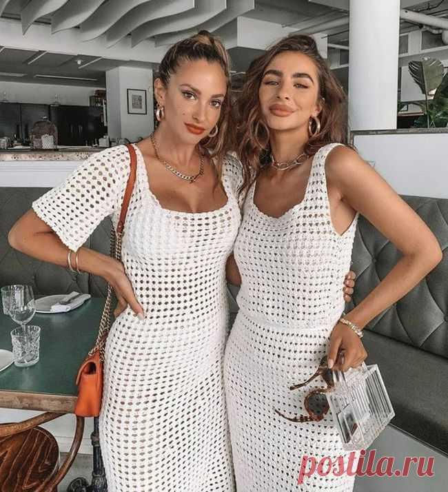 Стильное летнее платье крючком | otlicno.ru
