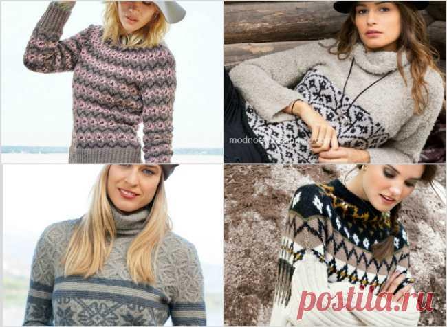 Вязаные женские свитера с жаккардовыми узорами - Knitting.Klubok.ru.com