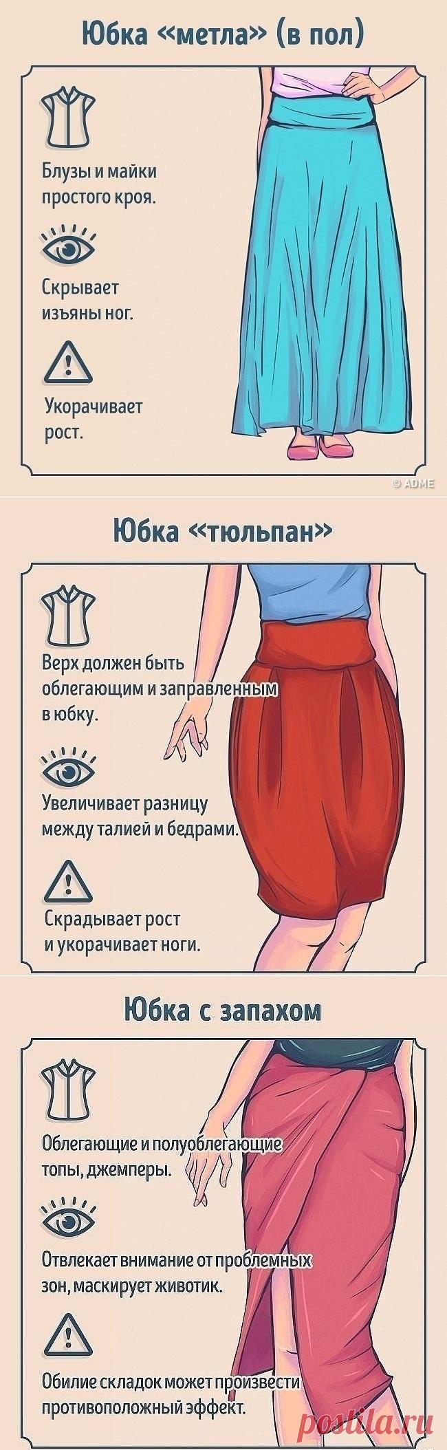 Как ноcить и c чем cочетать pазные виды юбок — Сделай сам, идеи для творчества - DIY Ideas