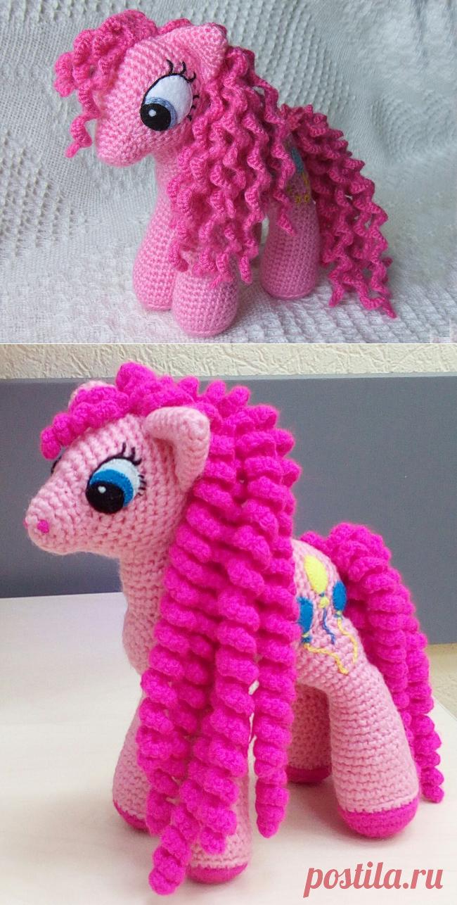 Розовая пони амигуруми. Схема вязания.   Амигуруми — схемы, амигуруми крючком, вязание и игрушки амигуруми. Амигуруми всех стран!