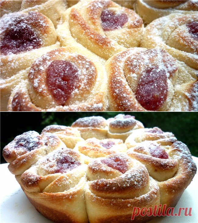 ">Булочка ""Бутон розы"" со свежими ягодами"