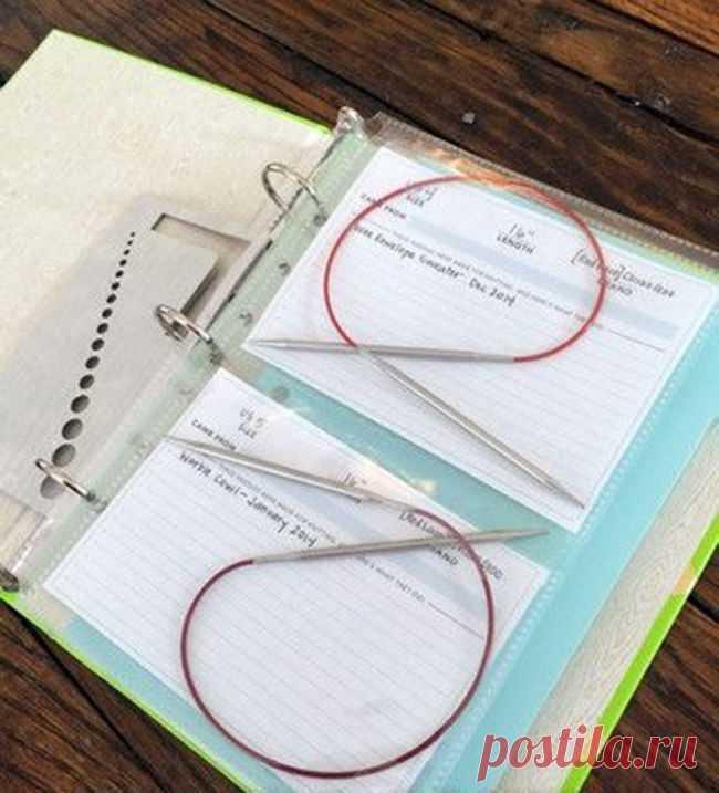 Как хранить крючки и спицы для вязания