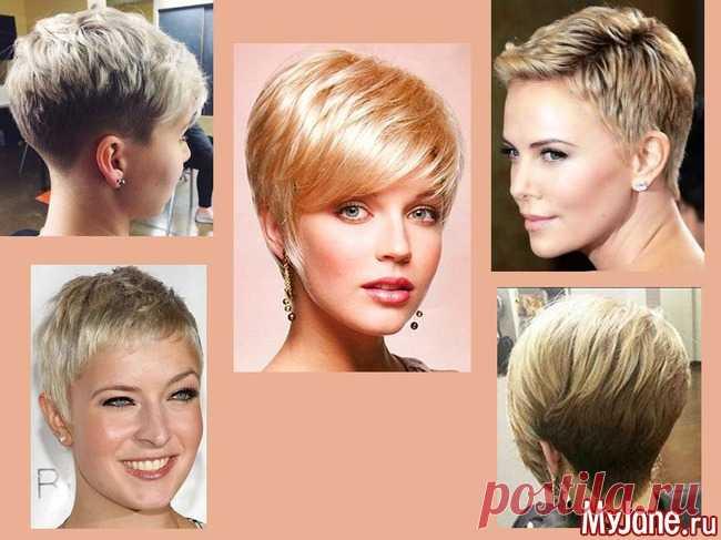 Стильные короткие стрижки на жидкие волосы