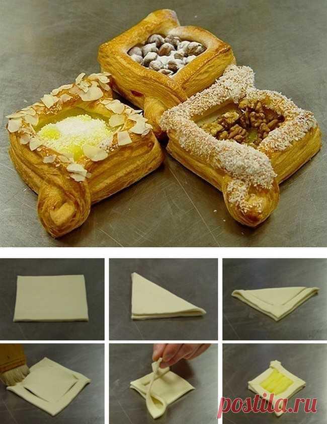 Рецепты выпечки и десертов с бездрожжевым слоеным тестом.