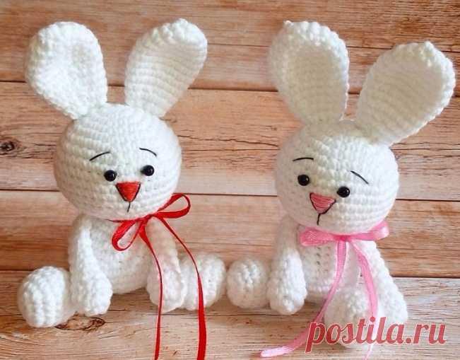 кролики амигуруми описание вязание игрушки постила