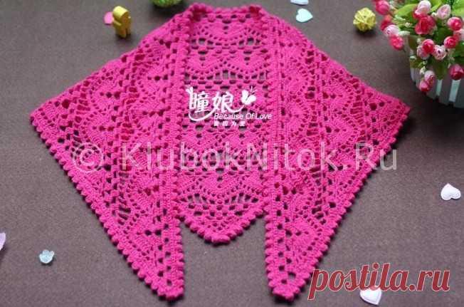 косынка крючком вязание для девочек вязание спицами и крючком