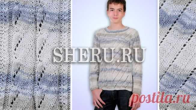 Пуловер для мужчины схема: №440