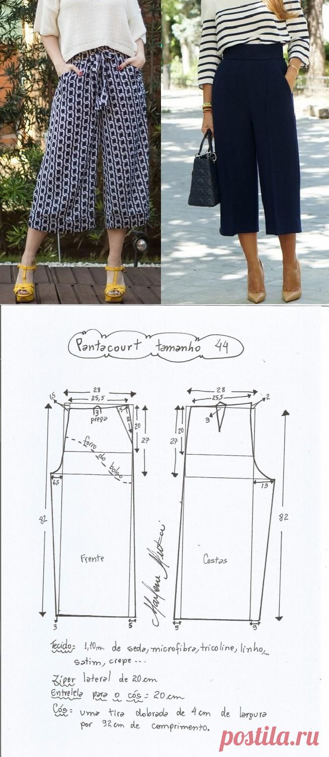 Los pantalones-kyuloty. Los patrones a las dimensiones de 36-56 ...