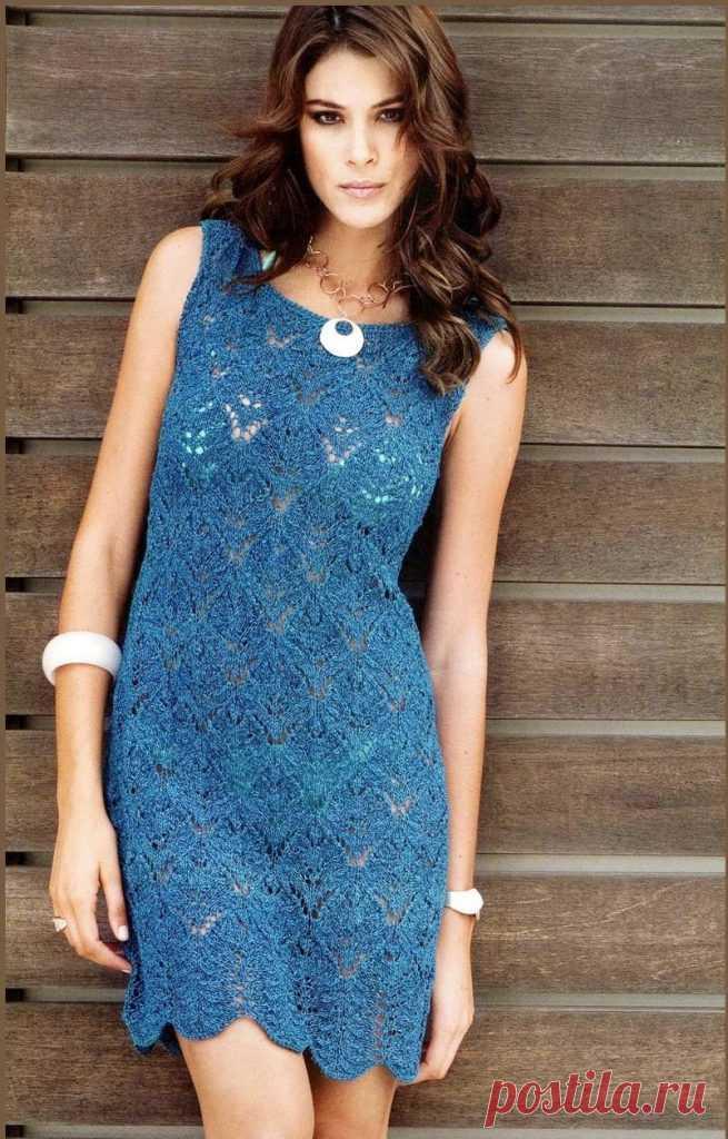 Вязаное ажурное платье - Lilia Vignan
