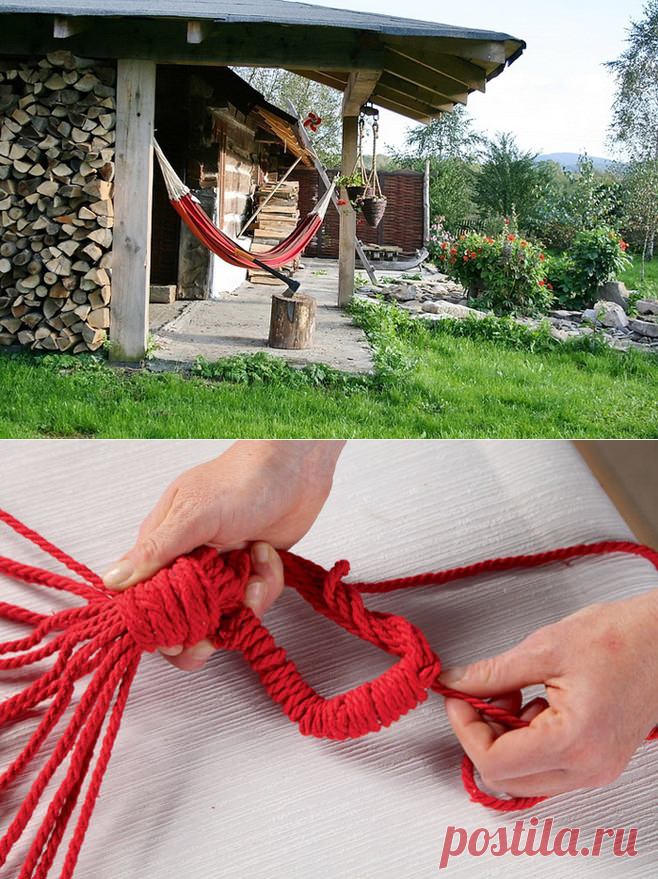 Hammock for giving, the instruction for production