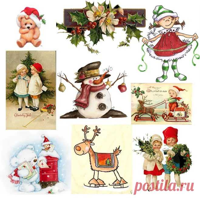 Маленькие открытки с новым годом распечатать и вырезать
