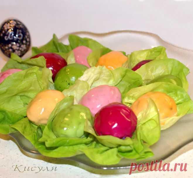 Фейерверк. Пасхальная закуска из фаршированных яиц