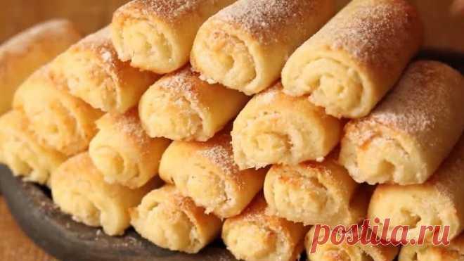 Изысканное нежное и очень вкусное творожное печенье! Ароматно и вкусно!