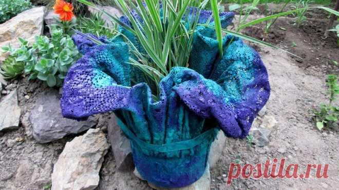 Вазы из цемента и ткани своими руками для сада: мастер-класс по изготовлению, фото Как сделать вазу из цемента и ткани. Какие материалы и инвентарь для этого нужны. Пошаговое изготовление вазы. Декорирование. Грунт и растения для ваз.