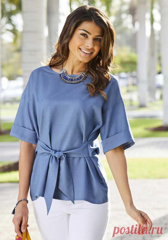 f075445a83f Блузка цвет  джинсовый арт  1026017047 купить в Интернет магазине Quelle за  1999.00 руб -