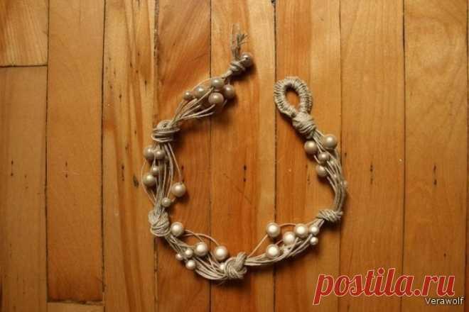 Необычное ожерелье своими руками.