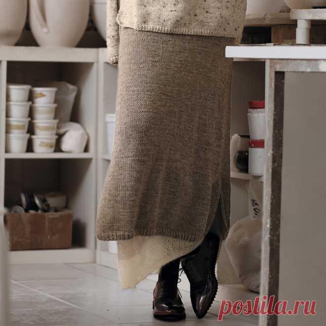 Двухслойная юбка - схема вязания спицами. Вяжем Юбки на Verena.ru