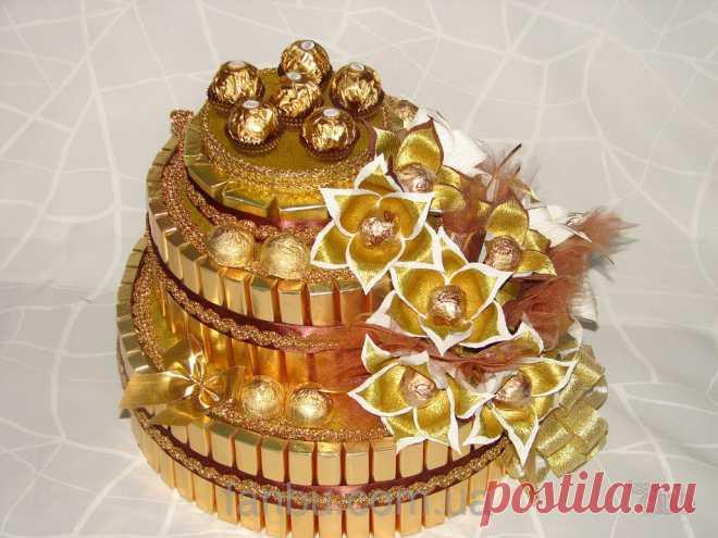 Как сделать оригинальный торт из конфет и сока? Как сделать торт из конфет для мальчика, девочки, мужчины и женщины