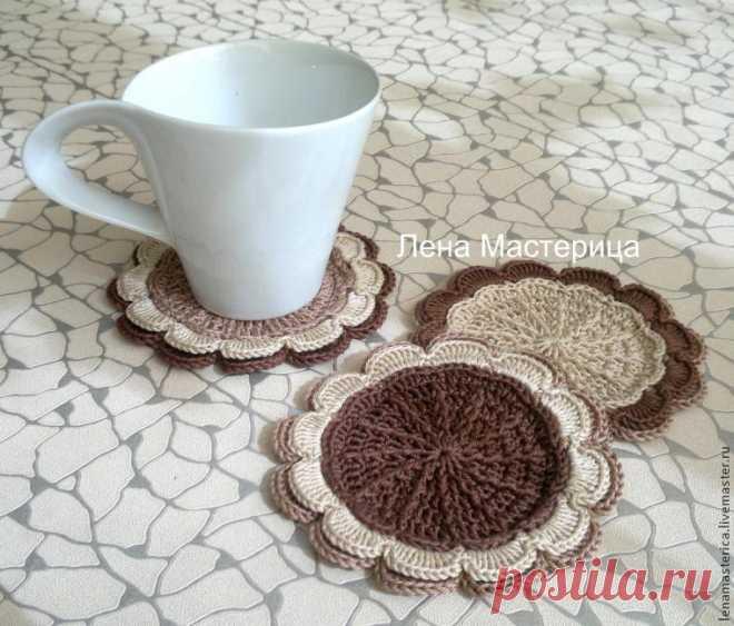 Вяжем уютные подставки под чашки - Ярмарка Мастеров - ручная работа, handmade
