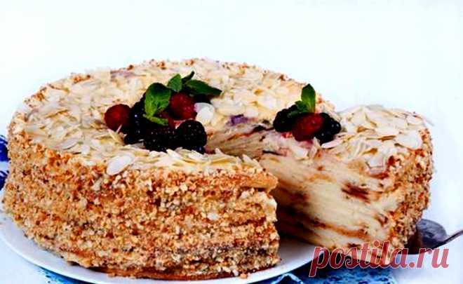 Творожный торт Наполеон на сковороде — Кулинарная страничка